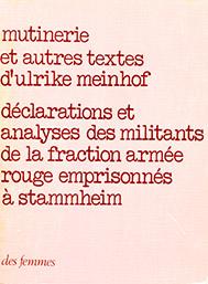 Mutinerie et autres textes