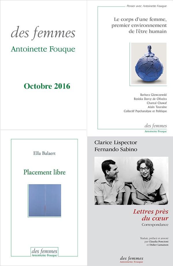 Editions des femmes livres oct 2016