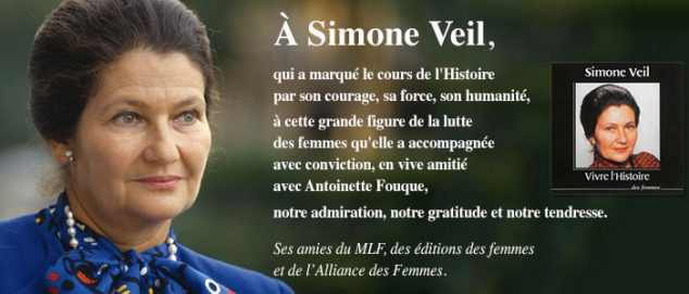Simone Veil hommage