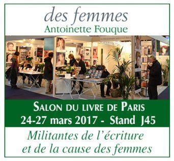 Salon du livre Paris 2017 éditions des femmes
