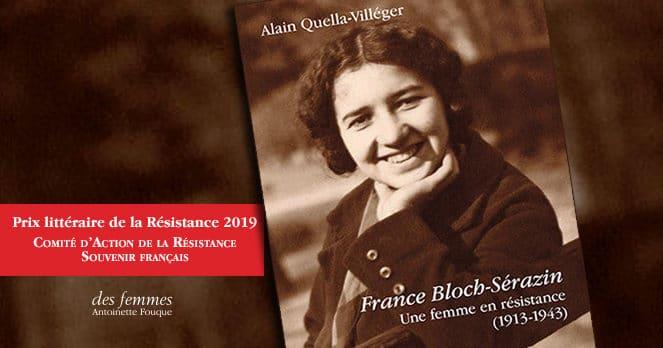 France Bloch-Sérazin prix de la Résistance