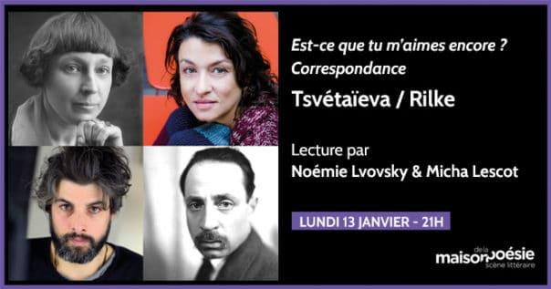 Lecture de la Correspondance Tsvétaïeva et Rilke