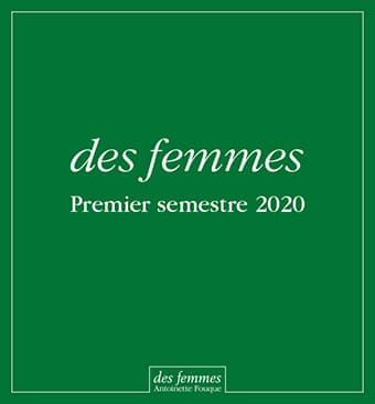 Catalogue Parutions 1er semestre 2020