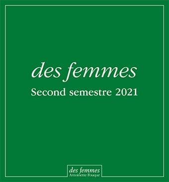 Catalogue Parutions 1er et 2e semestre 2021